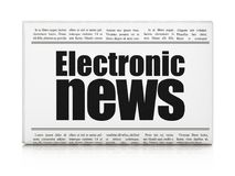 News concept: newspaper headline Electronic News. On White background, 3D rendering Royalty Free Stock Photos