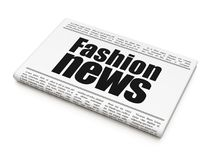 News concept: newspaper headline Fashion News. On White background, 3D rendering Stock Photos