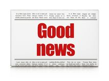 News concept: newspaper headline Good News. On White background, 3D rendering Stock Photos