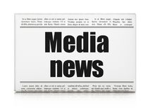 News concept: newspaper headline Media News. On White background, 3D rendering Royalty Free Stock Images