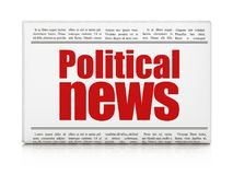 News concept: newspaper headline Political News. On White background, 3D rendering Stock Images