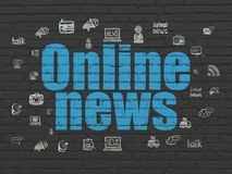 News concept: Online News on wall background Stock Photo