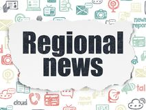 News concept: Regional News on Torn Paper background Stock Photography