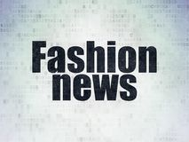News concept: Fashion News on Digital Data Paper background Royalty Free Stock Photography