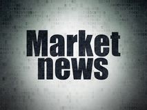News concept: Market News on Digital Data Paper background Stock Photography