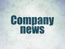 News concept: Company News on Digital Data Paper background. News concept: Painted blue word Company News on Digital Data Paper background Stock Photo