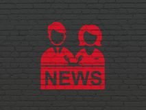 News concept: Anchorman on wall background Royalty Free Stock Photo