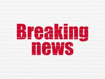 News concept: Breaking News on wall background Royalty Free Stock Photos