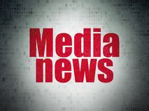 News concept: Media News on Digital Data Paper background Royalty Free Stock Photography