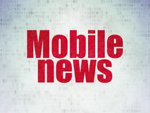 News concept: Mobile News on Digital Data Paper background Stock Photos