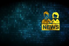 News concept: Anchorman on digital background Stock Images