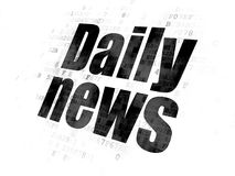 News concept: Daily News on Digital background. News concept: Pixelated black text Daily News on Digital background Royalty Free Stock Photography