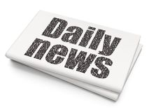 News concept: Daily News on Blank Newspaper background. News concept: Pixelated black text Daily News on Blank Newspaper background, 3D rendering Royalty Free Stock Photography