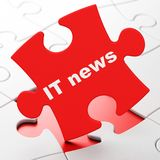 News concept: IT News on puzzle background Royalty Free Stock Images