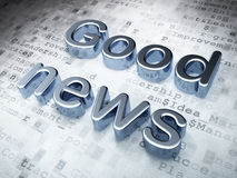 News concept: Silver Good News on digital. Background, 3d render Stock Images