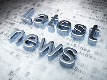 News concept: Silver Latest News on digital background. 3d render Royalty Free Stock Image