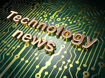 News concept: Technology News on circuit board background Stock Image