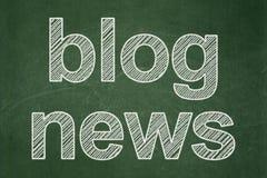 News concept: Blog News on chalkboard background. News concept: text Blog News on Green chalkboard background Stock Images