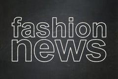 News concept: Fashion News on chalkboard background Stock Photo