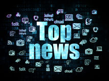 News concept: Top News on Digital background Stock Image