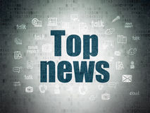 News concept: Top News on Digital Paper background Royalty Free Stock Image
