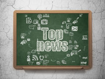 News concept: Top News on School Board background Royalty Free Stock Photography