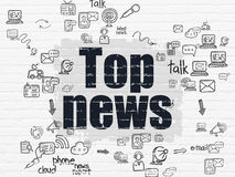 News concept: Top News on wall background Stock Photo