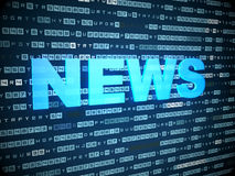 News concept: words News on digital background Stock Image