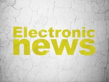 News concept: Electronic News on wall background Royalty Free Stock Photo