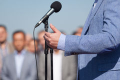News conference Royalty Free Stock Images