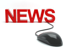 News connected to a computer mouse Stock Image