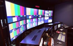Free News Control Room Color Bars On Monitors Stock Image - 182372021