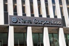 The News Corporation Building in Manhattan, New York City stock photos
