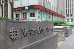 News Corporation. The headquarters of News Corporation, in Midtown Manhattan Stock Photography