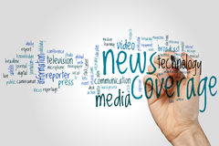 News coverage word cloud Royalty Free Stock Photography