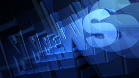 NEWS 3D Blue Text stock video footage