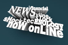 In the News. 3D Illustration Royalty Free Stock Photos
