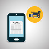 News design. Broadcasting concept. communication icon, vector Royalty Free Stock Photo