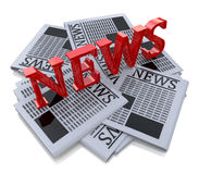 News. In the design of the information associated with the media space Royalty Free Stock Photo