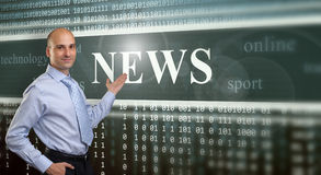 The News on digital screen Stock Photography