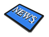 News in digital Tablet pc Royalty Free Stock Photos