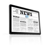 News on a digital tablet pc computer Stock Image