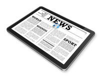 News on a digital tablet pc computer Stock Photo