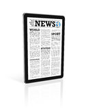 News on a digital tablet pc computer Royalty Free Stock Photography