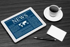 News on digital tablet. Stock Photography