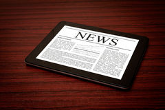 News on digital tablet. Royalty Free Stock Photo