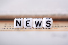 News. Education News, Newspaper with white background stock images