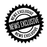 News Exclusive rubber stamp Royalty Free Stock Photography