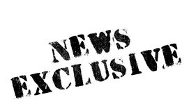 News Exclusive rubber stamp Stock Image