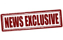 News exclusive. Stamp with text news exclusive inside,  illustration Royalty Free Stock Images